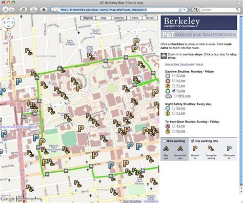 berkeley map uc berkeley transit schedules and multi modal transportation map trillium