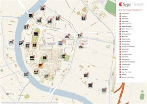 attractions map about bts bangkok thailand airport map complete tourist
