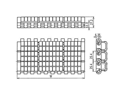 Daftar Ukuran Berat Roller jual plastic modular belt 1005 roller top a