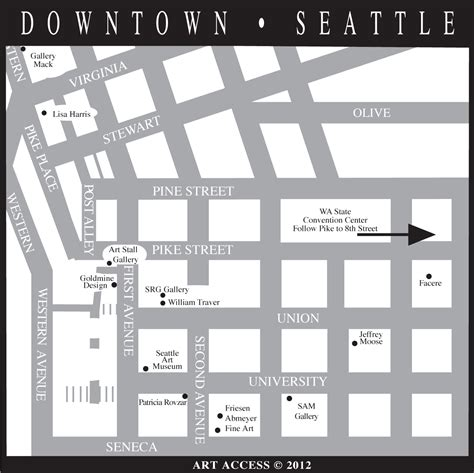 seattle map pioneer square access neighborhood maps