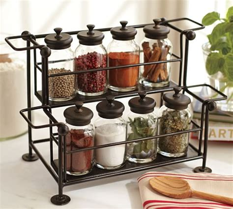 Counter Spice Rack by Counter Spice Rack Bronze Finish Pottery Barn