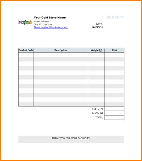 ms word receipt template hardhost info