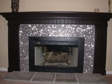 Metallic Tile Fireplace by 14 Best Images About Fireplace Ideas On