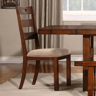Tribecca Home Dining Chairs Tribecca Home Swindon Rustic Oak Classic Dining Chair Set Of 2