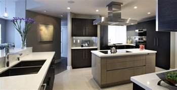 Custom Contemporary Kitchen Cabinets by Two Toned Kitchen Custom Contemporary Veneer Kitchen And