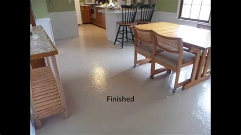Painted vinyl floor   YouTube