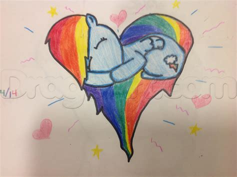 rainbow doodle drawing how to draw rainbow dash step by step anime characters