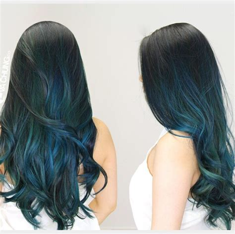 hairstyles with teal highlights teal highlights pinteres