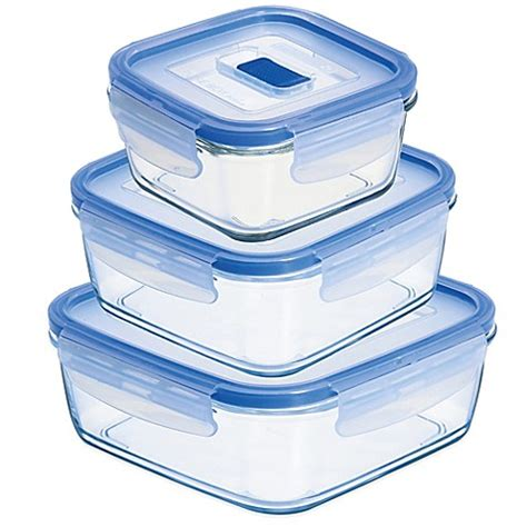 bed bath and beyond containers luminarc 174 pure box active square container with lid bed