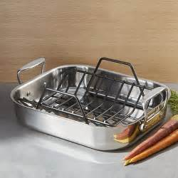 Small Pan Rack All Clad Roasting Pan With Rack Crate And Barrel