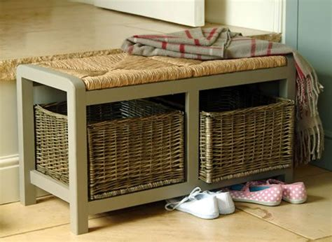 hall bench with storage baskets hallway storage bench with square wicker baskets great