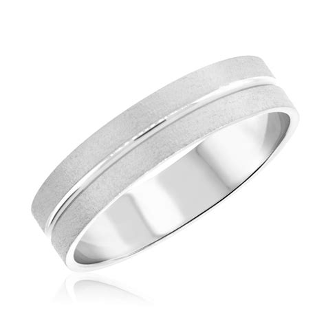 14k Gold Wedding Band by No Diamondstraditional Mens Wedding Band 14k White Gold