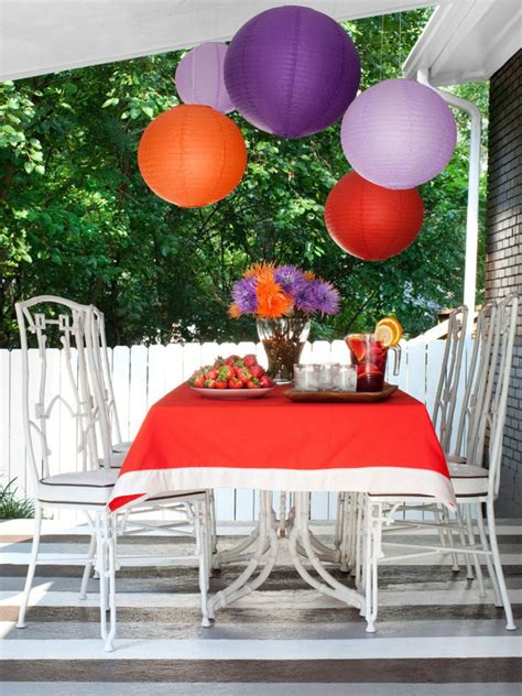 outside home decor ideas outdoor party decorating ideas food network summer