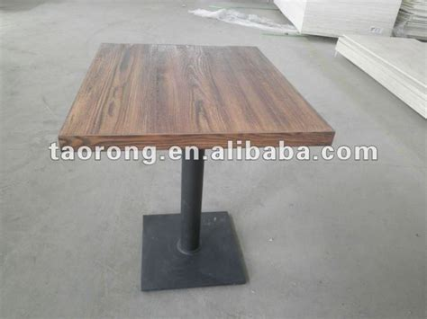 Buy Square Dining Table Ta 024 Square Carbonized Wood Restaurant Table With Metal Base Buy Square Carbonized Wood