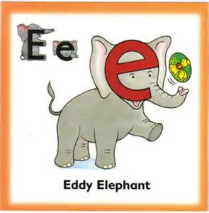 letterland eddie elephant colouring pages