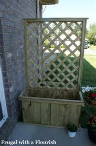 lattice planter with trellis frugal with a flourish how to build a lattice planter box