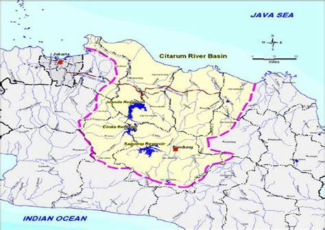 citarum river map location of citarum river basin research diagram