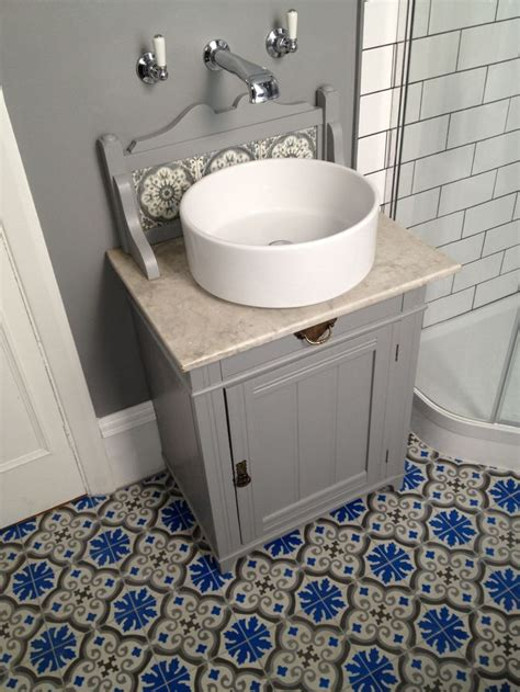 encaustic tile bathroom adapted victorian marble topped washstand a junk shop