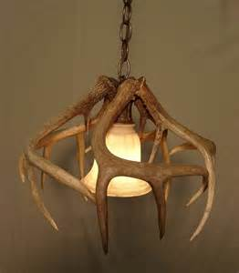 deer horn light fixtures real whitetail antler pendant light fixture by idaglowantler