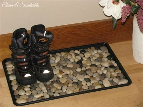 diy shoe tray diy pebble boot tray stylish functional and so easy to do