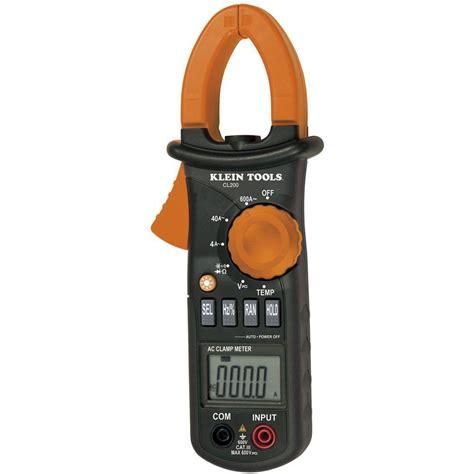 Kyoritsu 2433r Digital Cl Meter klein tools 600 ac digital cl meter with temperature cl200 the home depot