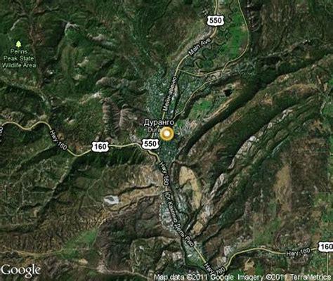 satellite map of colorado durango popular tourist places satellite map
