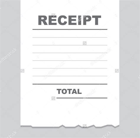 blank receipts template with logo receipt template for excel studio design gallery
