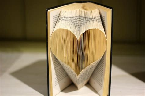 folded book art love heart by jewelia2 on deviantart
