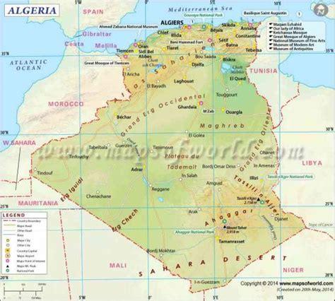 map of algeria cities algeria map map travel holidaymapq
