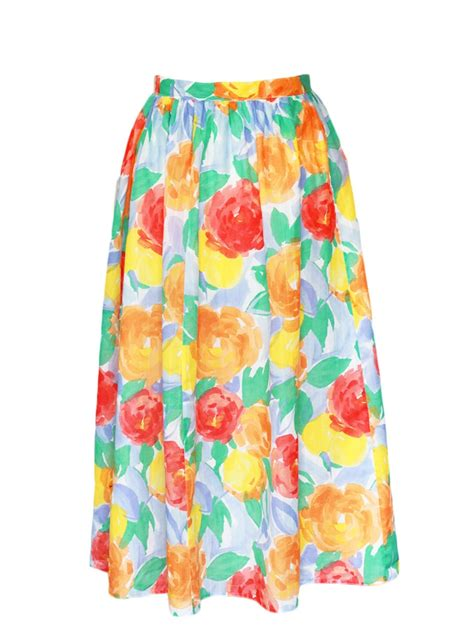 colorful maxi skirts louise vintage bright colorful floral print high