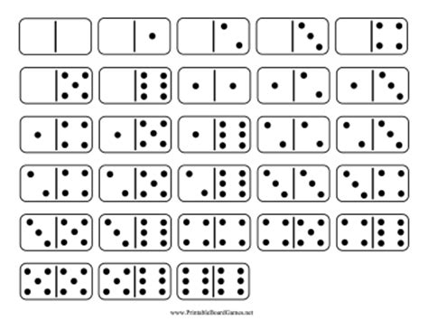 printable domino cards printable domino double six set
