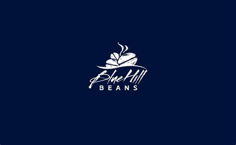design hill logo blue hill beans coffee logo design typework studio