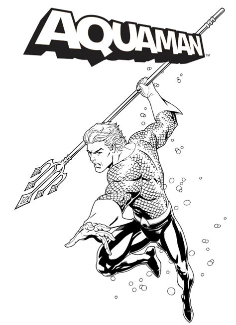 Free Coloring Pages Of Aquaman Aquaman Coloring Pages