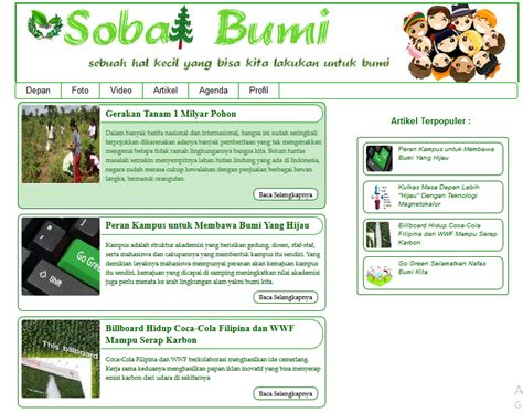 contoh homepage blog contoh sr contoh website css3 html 5 tema go green tundhu blog