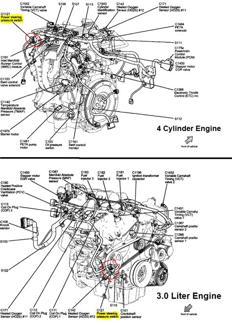 2011 Ford Fusion Engine by 2010 Ford Fusion Engine Diagram Automotive Parts Diagram