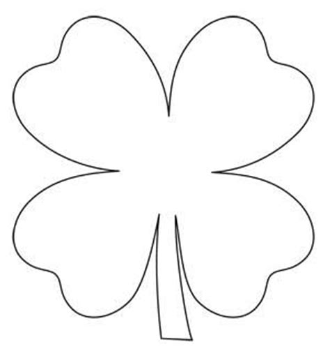 clover flower template 4 leaf clover pattern clipart best