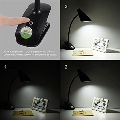 led desk l with ac outlet ledgle led desk l clip on reading light task lighting