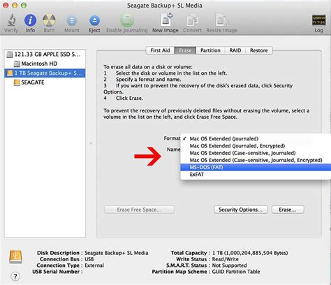 Format Macbook formatting usb external drive to fat32 or exfat on