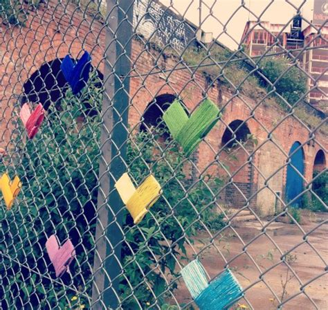 chain link fence decoration yarn bombing