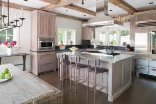 Grey Interior Wood Stain Darien Beach House Beach Style Kitchen