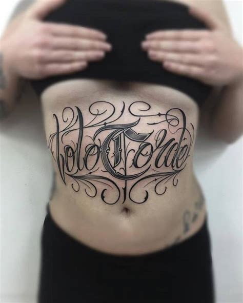 tattoo font mexican belly lettering tattoo chicano best tattoo ideas gallery