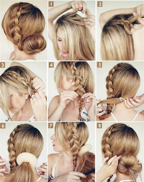 cool easy step hairstyles big braided bun elegant hairstyle 21 always in trend