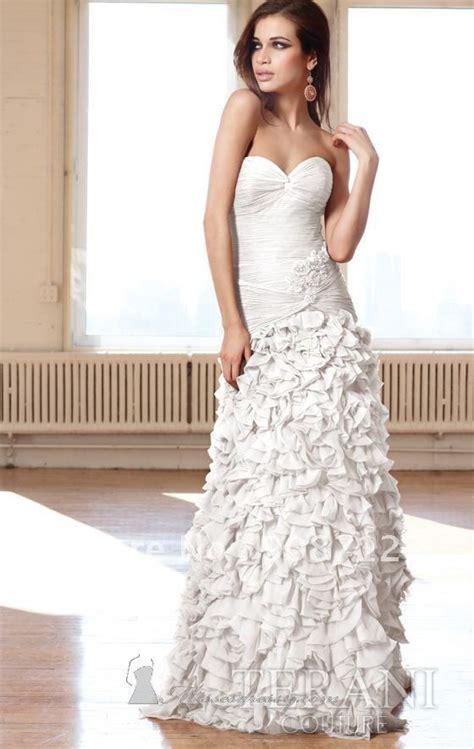Who Wore It Better Couture Chiffon Ruffle Dress by Sell A Line Strapless Sweetheart Chiffon Stunning