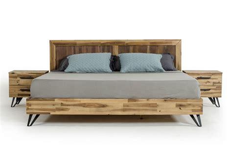 rustic platform bed atticus rustic modern platform bed