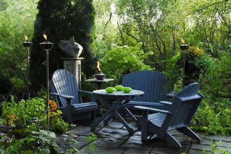 terrasse le une terrasse le soir l 233 ger cour et jardin