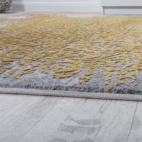 teppich gelb grau designer teppich modern wohnzimmerteppich mit muster
