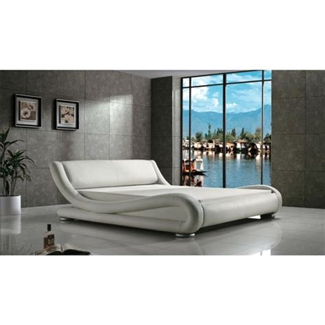 curved platform bed queen modern white upholstered platform bed with curved