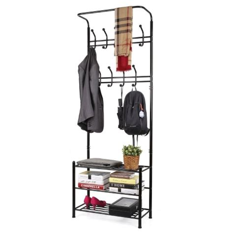 storage bench and coat rack set entryway bench and coat rack set with storage compartment