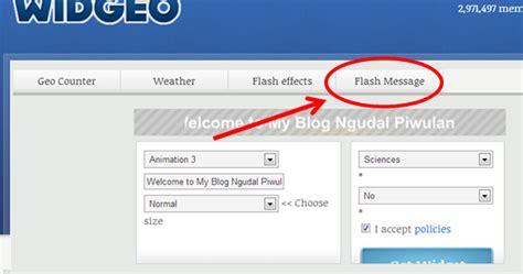 membuat nama blog berjalan ngudal piwulang dalang cara membuat tulisan berjalan