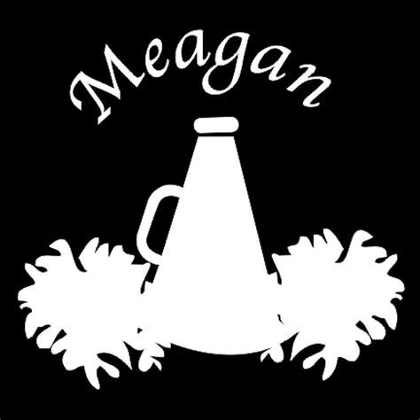 megaphone clipart custom vinyl megaphone pom poms with name